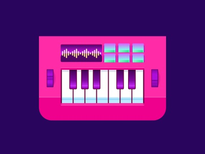 Keyboard djs keyboard music illustration affinity designer