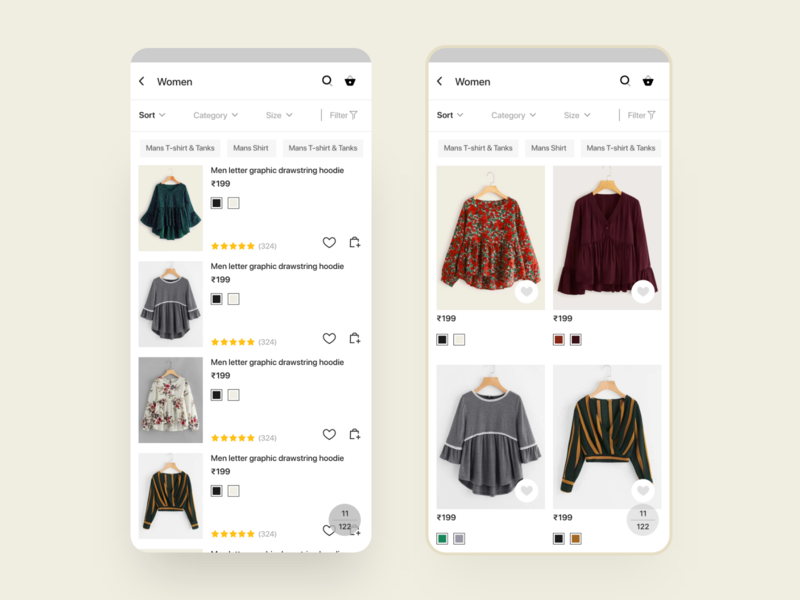 Cuccu Ecommerce - Product search result mobile app template android design uikit ux ui ecommerce design sell online ecommerce shop ecommerce