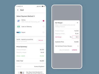 Shopy Ecommerce Redesigned - Cart app mobile ui app template android uikit uiux ecommerce app ecommerce design page cart order