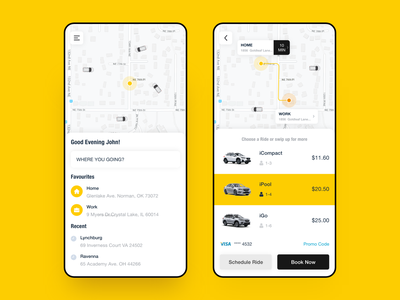 Taxi booking app redesigned cabin illustration mobile ui app template design uikit android uiux booking taxi booking app cab taxi