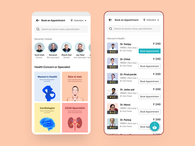 Well being doctor & Patient apps health medical mobile uiux design uiux design app design booking doctor appointment doctor app doctor