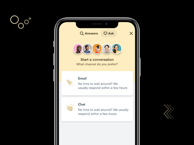 Conversation with team store iphone product design saas interaction communication chatting android ios app template ecommerce ux ui card design decent clean design chat conversation illustration