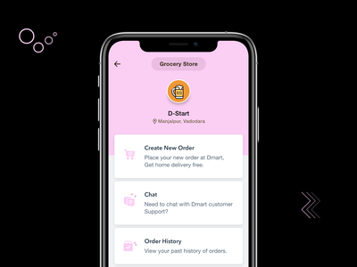Shop profile ecommerce mobile interactive interaction productdesign saas ux ui app android ios history order chat products online shoping profile store illustration design