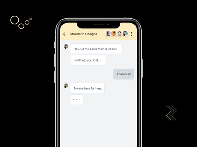 Chat with support team saas ios mobile app template interaction design ux ui team whatsapp product chat app conversation chatting branding illustration android