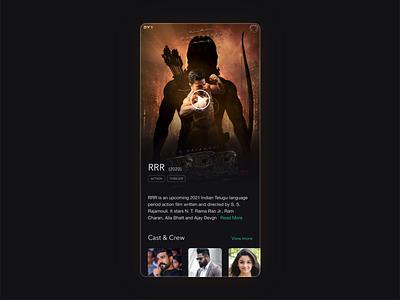 RRR movie Mobile app movie art illustration uiux design agency uiuxdesigner hollywood tollywood bollywood movie app uiux design threater cinema south indian rrr movie