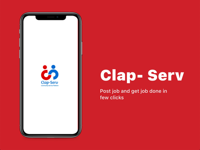 Clap Serv - Post job and get work done product design interactive saas ios booking illustration ux ui design employee job branding emptystate job board ecommerce post app design mobile android