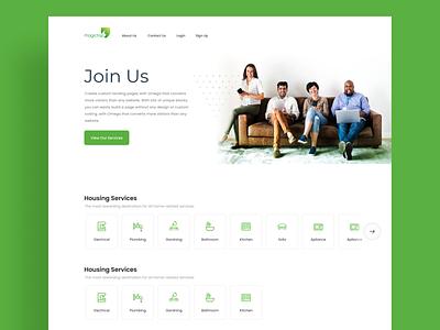 Website Landing page for Home services creative branding illustration uiux design website landing page
