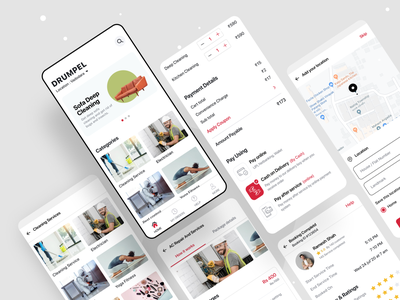 Home services mobile app design and development booking illustration ecommerce mobile uiux design uikit app template android on demand home services