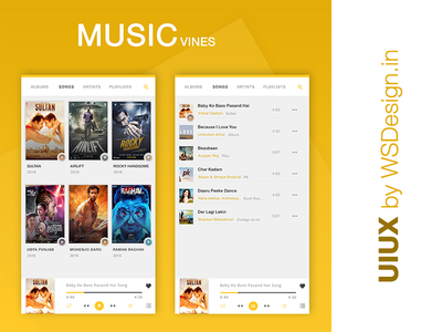 Music Vines App UI