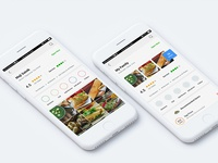 FOOD APP, Which UI Is better? Right or Left