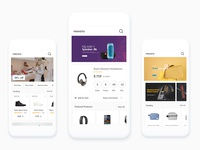 Ecommerce Home page Design by WSDesign.in