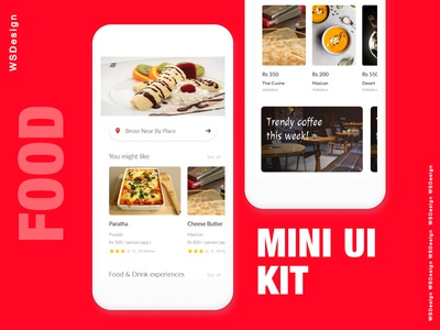Food Ui Kit Freebie