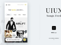 Wsdesign music feed app uiux