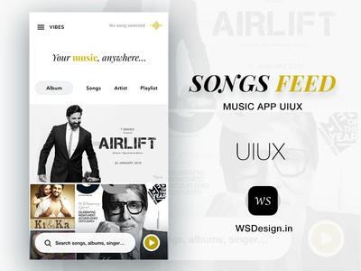 Songs Feed App UIUX