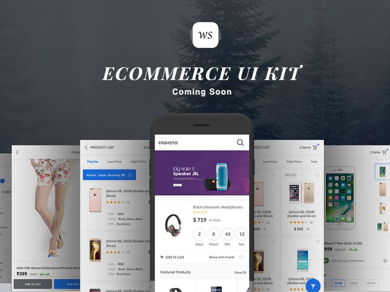 Ecommerce Fashino UI KIT with Android Studio kit ux ui ecommerce