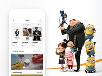 MOVIE Home Page UI