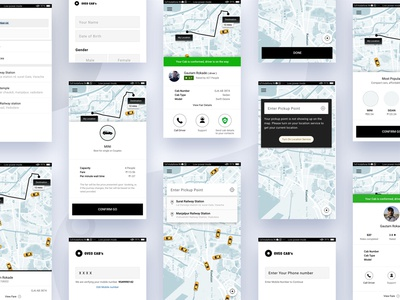 OVEO Cab booking UI KIT
