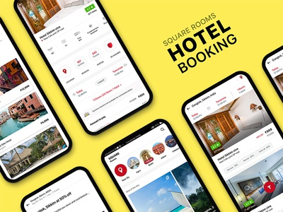 Hotel booking UI KIT | SQUARE ROOMS