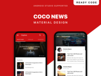 COCO NEWS UI KIT with Material Design