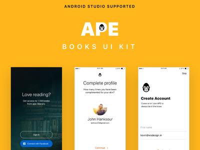 BOOKS UI KIT with Android Studio XML Code