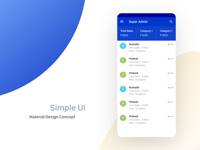 Simple UI with material design concept app template android material design design uiux uikit ecommerce