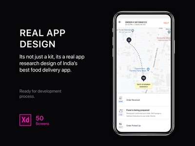 Real food delivery app template