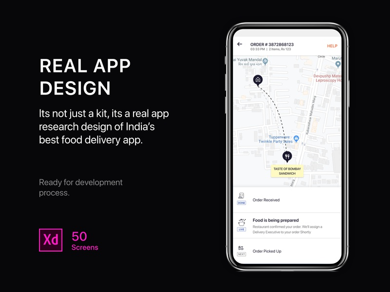 Real food delivery app template map restaurant app uiux ios app ios android app template food delivery app food delivery uikit