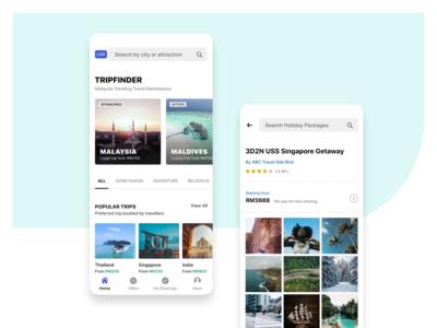 trip finder travelling app ui design by WSDesign Team