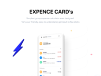 Expense card, divide expenses in group