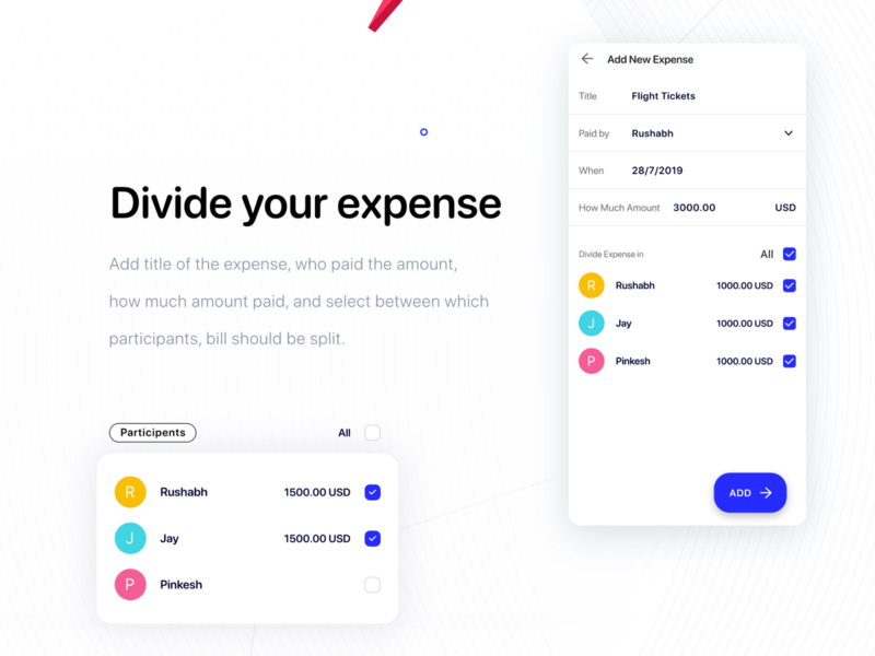 Easily Divide your expenses expense manager expense tracker expenses