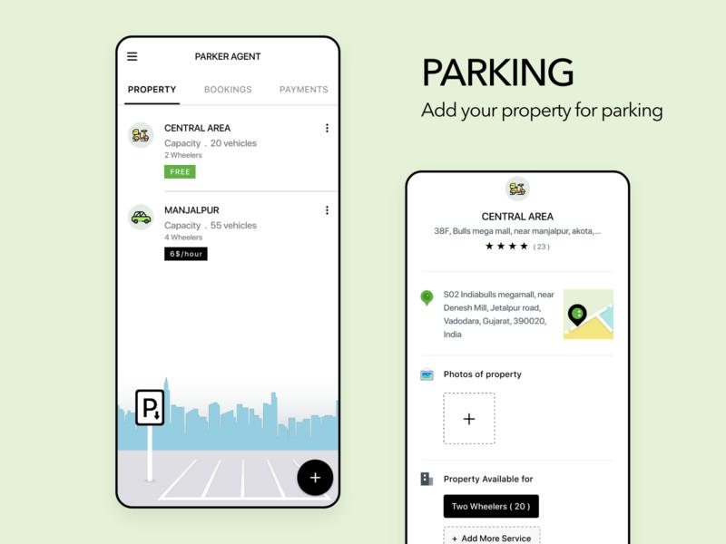 Parking mobile app uiux design android parking app modern ui uiux ui parking