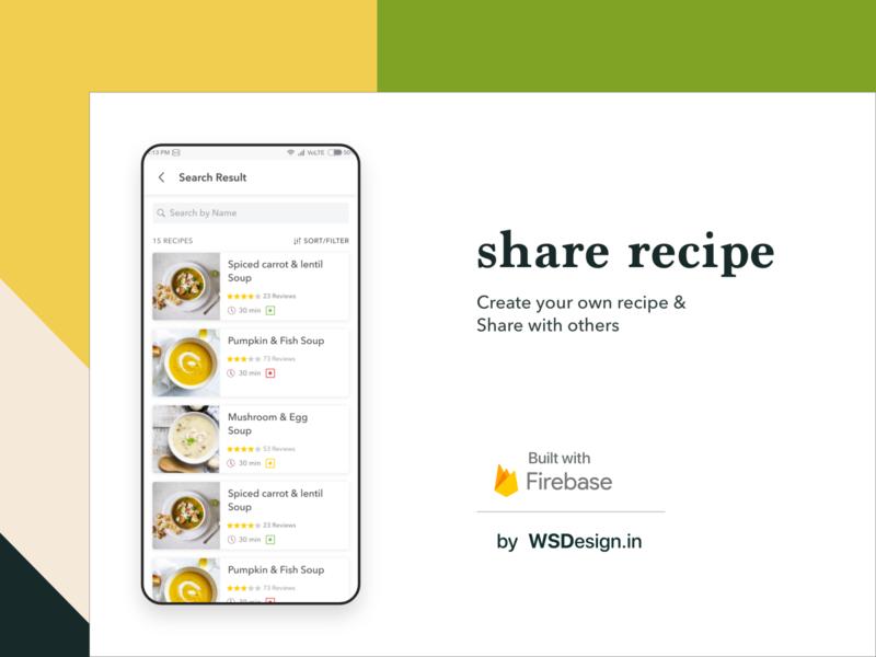 recipe uiux design by wsdesign team on firebase modern design ux ui recipe book recipe app