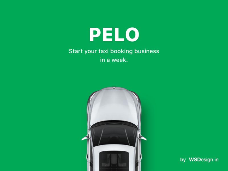 Pelo taxi booking app by wsdesign mobile design app template uiux grab ola uber clone uber business android app taxi booking cab booking