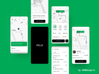PELO taxi booking app uiux design