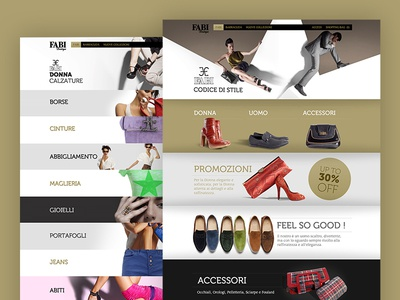 Fabi Boutique web ui ecommerce webdesign uxuidesign shoes fashion