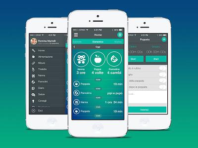 PinkUp Neonato (Mobile App) userexperience ios design ui ux mobile app baby