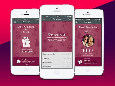 Matrimonio.it + PinkUp (Mobile App) mobile app userexperience design ux ui planner wedding