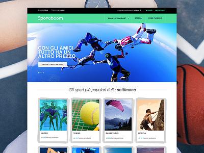 Sportboom Responsive Website servicedesign ecommerce sport web webdesign design sportboom ux ui