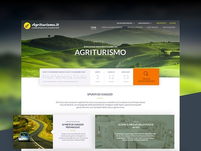 Concept Redesign Agriturismo.it agriturismo website userexperience uiux concept redesign booking