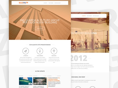 BuildING for ING ing ux user interface ui modern website home design corporate