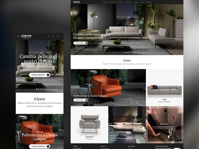 Cierre Imbottiti Website Redesign redesign responsive userexperience furniture website ui ux