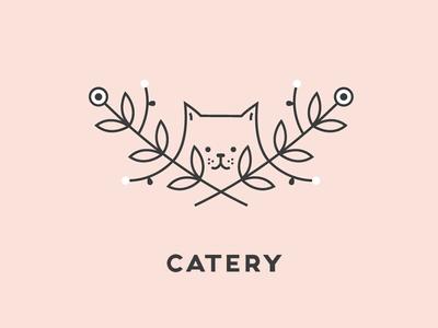 Catery Branding Concept logo design illustrator ux design cats cat logo visual identity branding
