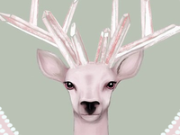 Deer digital illustration