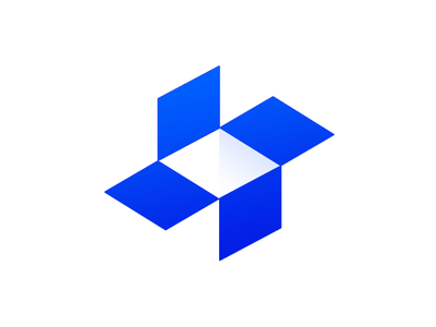 Dropbox negativespace simple monogram clever creative vector illustration design idea brand symbol marks logo letter mark typography identity box drop dropbox