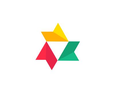 Acrux negativespace marks symbol simple typography creative brand monogram letter design idea logo mark identity video triad play star triagle acrux