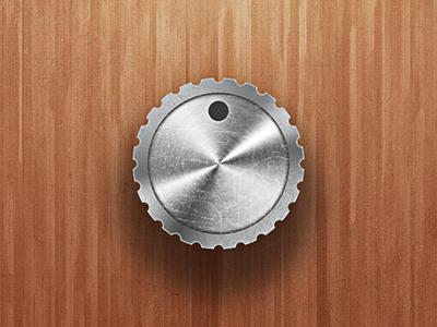 Just a Knob for a UI Kit ui metal scratched distressed knob