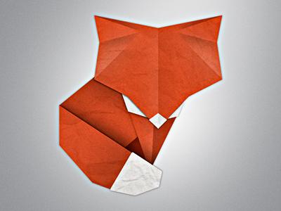 Little Paper Fox fox paper origami red paper fox red fox origami fox