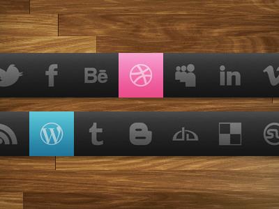 Dark Theme Social Icon Set