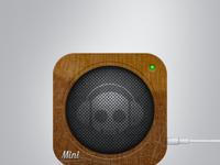 Mini speaker icon wood full view