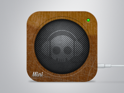 Seen Better Days: Wood Speaker Icon icon speaker scratched wood